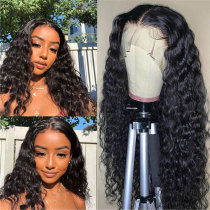 ReadyWig Black Water Wave Human Hair Lace Front Wig - Customized