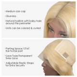 preplucked Lace Front Human Hair Wigs For Black Women