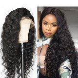 Black Loose Wave Pre-plucked Human Hair Lace Front Wig