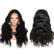 ReadyWig Black Body Wave Pre Plucked Human Hair Lace Front Wig - Customized