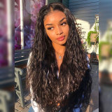 ReadyWig Black Natural Wave Human Hair Lace Front Wig