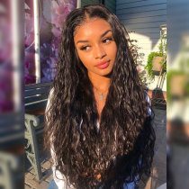 ReadyWig Black Natural Wave Human Hair Lace Front Wig - Customized