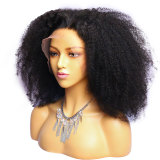 beautiful black kinky curly human hair wig with no shedding and tangling