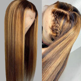 13*6 Lace Front Human Hair Wig with pre-plucked hairline