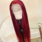 100% human hair wigs with long straight silky hair