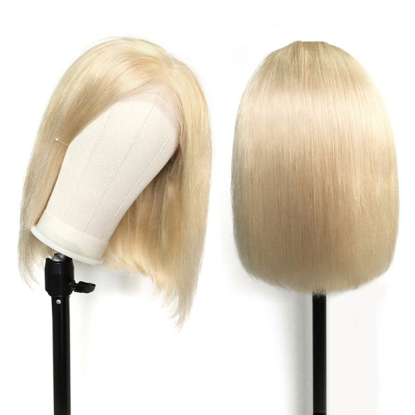 ReadyWig 613 Blonde Short Bob Human Hair Lace Front Wig - Customized