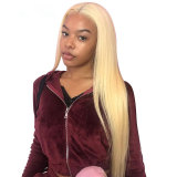 613 Blonde Silky Straight Human Hair Lace Front Wig