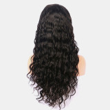 Glueless black wavy Lace Wig with breathable wig cap