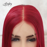 Natural Red Bob Wigs Heat Resistant Wigs for Women  Natural Looking Shoulder Length Free Parting Hairline Fashion Looking Wigs