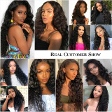 Pre-plucked human remy hair with Baby Hairs 150% Density