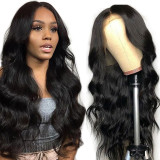 13x4 Lace Frontal Human Hair Wig with transparent lace