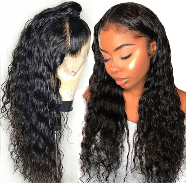 ReadyWig Black Wavy Human Hair Lace Front Wig - Customized