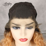 Synthetic Wigs Long Wavy Heat Resistant Fiber Hair Wigs Loose Wave Half Hand Tied Wigs For Women