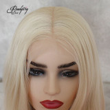 613 blonde Lace Front Wig Natural Looking Silky Straight Free Parting Heat Resistant Lace Glueless Synthetic Wig