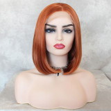 Orange Short Hair Synthetic Lace Front Wig