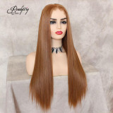 13x6 lace front wig Heat Friendely Synthetic Wig with baby hairs and pre-plucked hairline