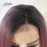 Purple Short Lace Wigs Pre Plucked for Black Women