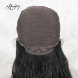 Synthetic Lace Front Wigs Black Nature Long Wavy Body Wave Glueless High Temperature Fiber Deep Invisible Part Lace Wigs For Black Women