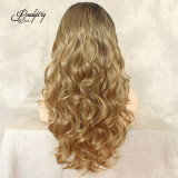long curly hair big wave matte lace front wig for black women