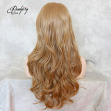 Long Natural Wave Blonde Synthetic Lace Front Wigs Heat Resistant Fiber Hair Wigs For Women
