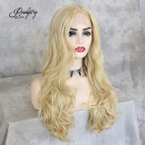 wavy hair wig, waist-length natural wavy Hairstyle Capless Synthetic Lace Front Wigs