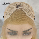 Blonde Gold Hair Body Wave Wig Lace Front Wigs Synthetic Heat Resistant Long Hair Wig for Women