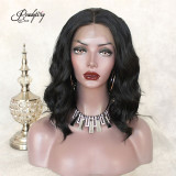 Shoulder-length Straight Lob Hairstyle Synthetic Lace Front Wigs