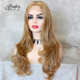 wavy hair wig, waist-length natural Hairstyle Capless Synthetic Lace Front Wigs