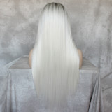 Hand Tied synthetic straight Wig for black Women