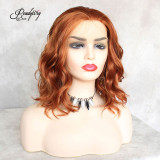 wavy hair wig 13x4 lace front wig pretty hairstyle for party custome
