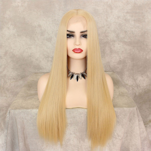 ReadyWig 613 Blonde Silky Straight Synthetic Lace Front Wig 22 Inches