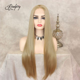 Long Silky Straight Heat Resistant Synthetic Lace Front Wig
