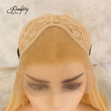 Synthetic Lace Front Wig Long Silky Straight Hight Temperature Heat Resistant Fiber Blonde Wigs For Women Girls