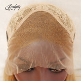 Gold Blonde Cute Short Short Lace Front Wig with Heat Resistant Synthetic Fiber