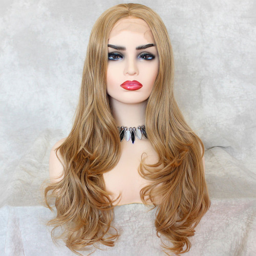 ReadyWig Honey Blonde Body Wave Synthetic Lace Front Wig 24 Inches