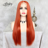 Big Lace part wigs Heat Resistant wavy hair Natural Looking Free Parting Hairline Bright Color Wigs