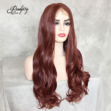 Copper Red Synthetic Wigs Heat Resistant Wigs for Women  Natural Looking Free Parting Hairline Fashion Looking Wigs