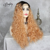 wavy hair wig, long hair wig best curly wig 13x4 lace front wig pretty hairstyle cosplay wig