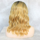 hot sale blonde long bob synthetic wig 130% Density