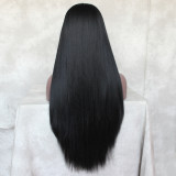 Hand Tied synthetic straight Wig for black Women with minimal shedding