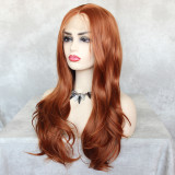 13*4 hand-tied lace wig with heat resistant fiber and preplucked hairline