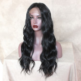 wavy hair wig, waist-length natural Hairstyle Capless Synthetic Lace Part Wigs