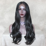 ReadyWig Black Body Wave 13*6 Synthetic Lace Front Wig 24 Inches