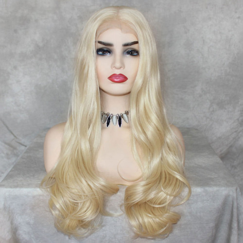 ReadyWig 613 Blonde Body Wave 13*6 Synthetic Lace Front Wig 24 Inches