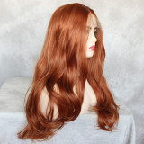 preplucked pink long wavy synthetic lace fornt wig for black women