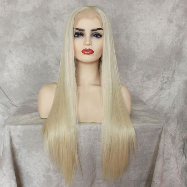ReadyWig 613 Blonde Straight Hair 13*6 Synthetic Lace Front Wig 24 Inches