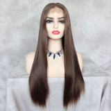 ReadyWig Linen Brown Straight Hair 13*6 Lace Front Wig 24 Inches
