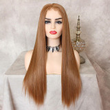 ReadyWig Strawberry Blonde Silky Straight Hair 13*6 Synthetic Lace Front Wig 22 Inches