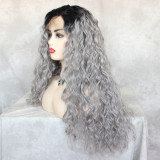 affordable synthetic lace front wig with soft fiber and transparent lace