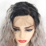 ReadyWig Grey Loose Curly Synthetic Lace Front Wig 24 Inches